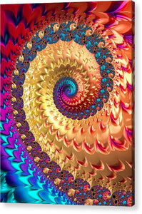 Joyful Fractal Spiral Full Of Energy - Acrylic Print