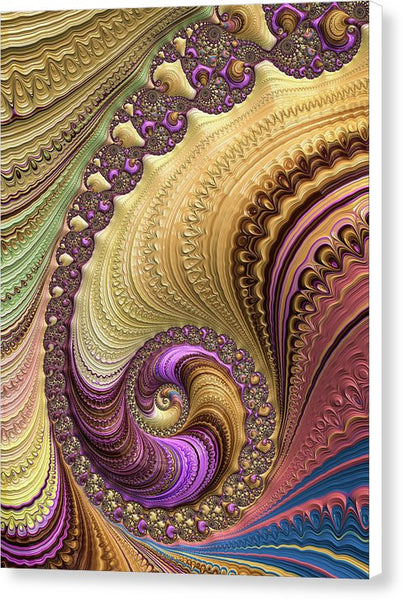 Luxe Colorful Fractal Spiral - Canvas Print