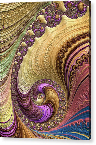 Luxe Colorful Fractal Spiral - Acrylic Print