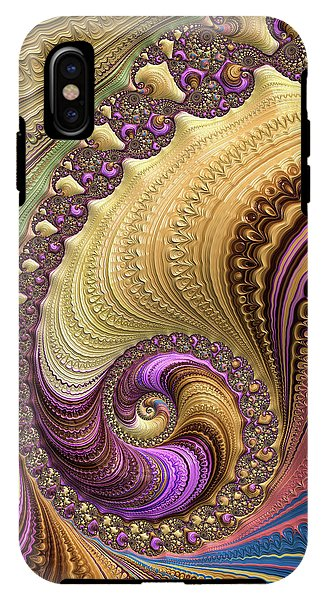 Luxe Colorful Fractal Spiral - Phone Case
