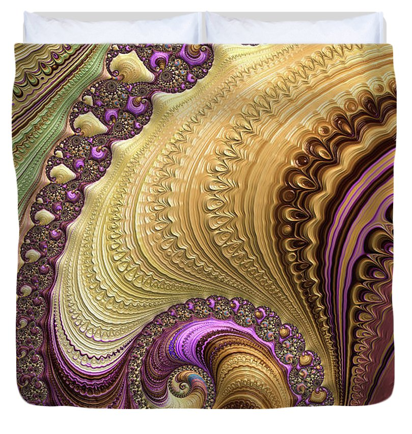 Luxe Colorful Fractal Spiral - Duvet Cover