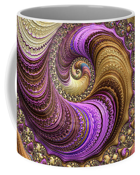 Luxe Colorful Fractal Spiral - Mug