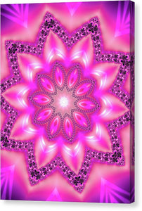 Mandala Art Pink And Purple - Canvas Print