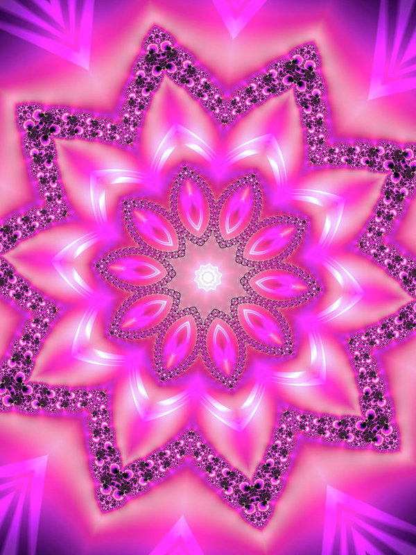 Mandala Art Pink And Purple - Art Print