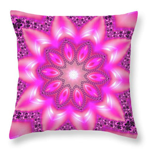 Mandala Art Pink And Purple - Throw Pillow