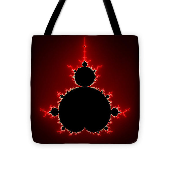Mandelbrot Set Black And Red Square Format - Tote Bag
