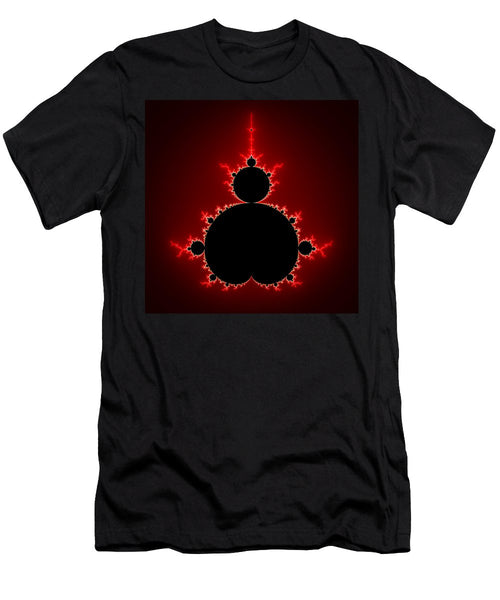 Mandelbrot Set Black And Red Square Format - Men's T-Shirt (Athletic Fit)