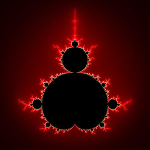 Mandelbrot Set Black And Red Square Format - Art Print