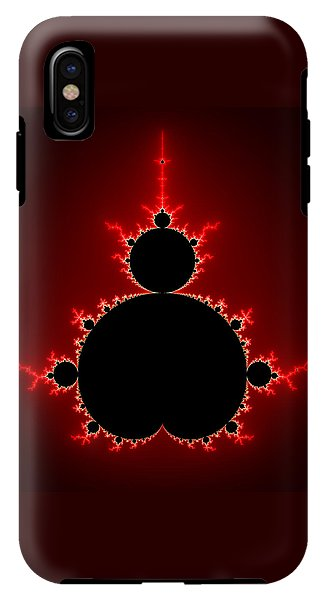 Mandelbrot Set Black And Red Square Format - Phone Case