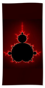 Mandelbrot Set Black And Red Square Format - Beach Towel