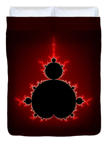 Mandelbrot Set Black And Red Square Format - Duvet Cover