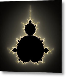 Mandelbrot Set Square Format Art - Metal Print