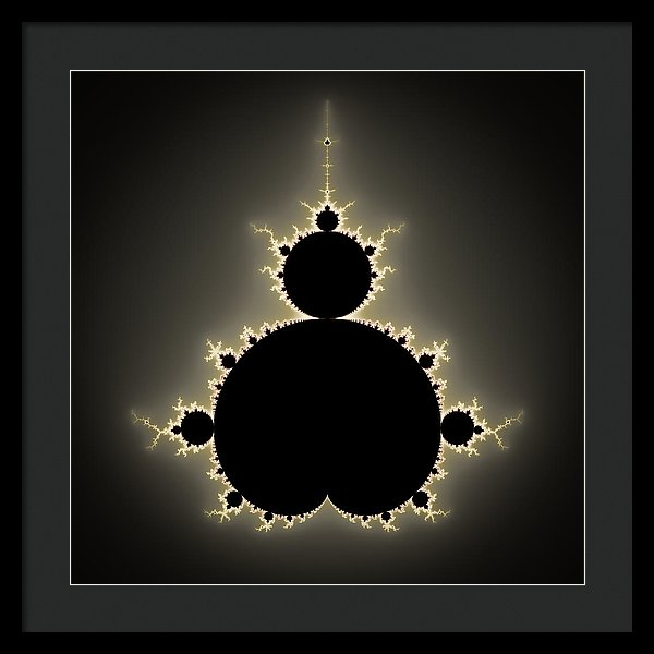 Mandelbrot Set Square Format Art - Framed Print
