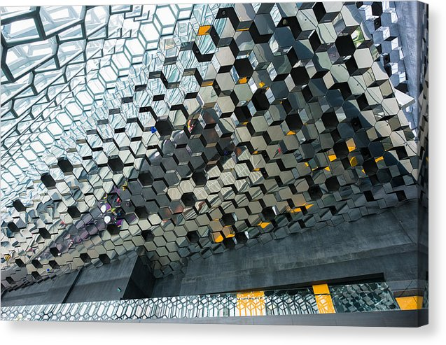 Modern Abstract Architecture Harpa Reykjavik Iceland - Canvas Print