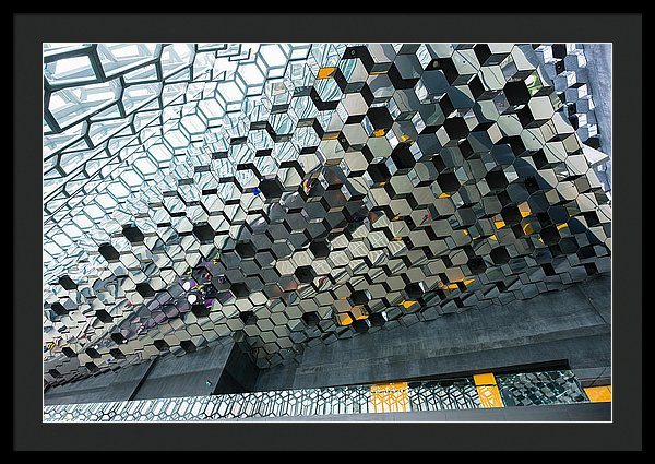 Modern Abstract Architecture Harpa Reykjavik Iceland - Framed Print