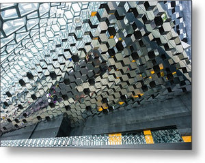 Modern Abstract Architecture Harpa Reykjavik Iceland - Metal Print
