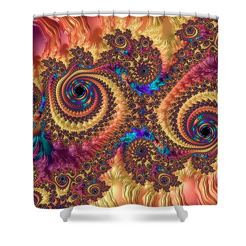 Modern Abstract Art With Warm Colors - Shower Curtain