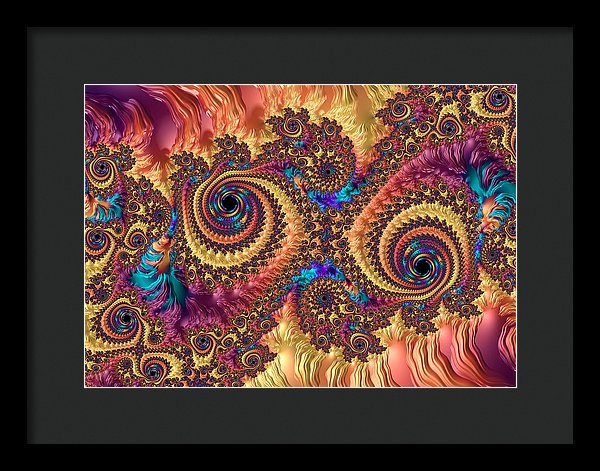 Modern Abstract Art With Warm Colors - Framed Print