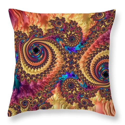 Modern Abstract Art With Warm Colors - Throw Pillow