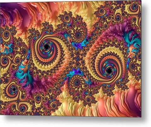 Modern Abstract Art With Warm Colors - Metal Print