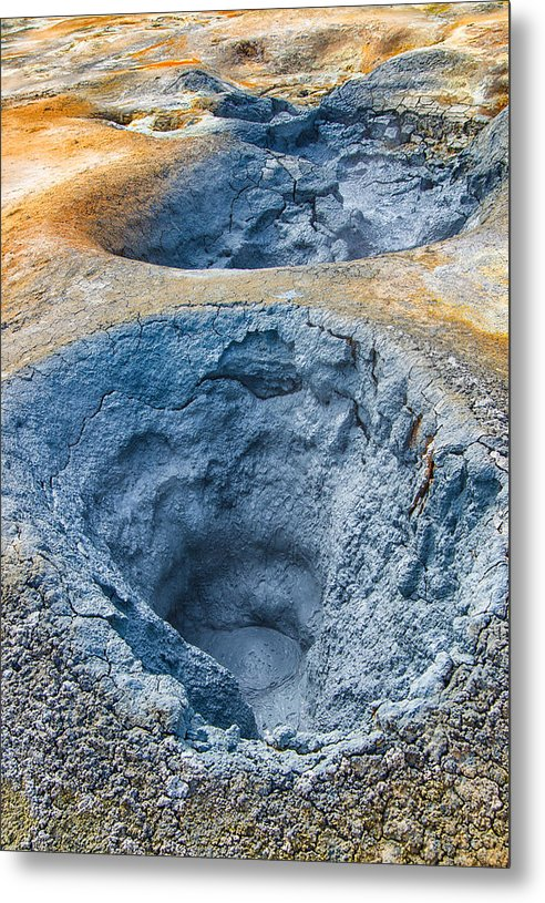 Mudpot Iceland Nature Abstract - Metal Print