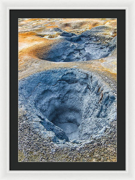 Mudpot Iceland Nature Abstract - Framed Print