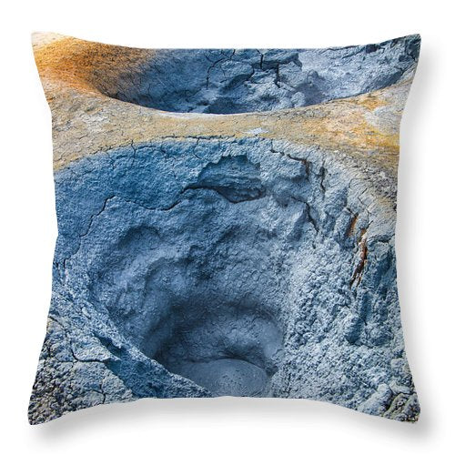 Mudpot Iceland Nature Abstract - Throw Pillow