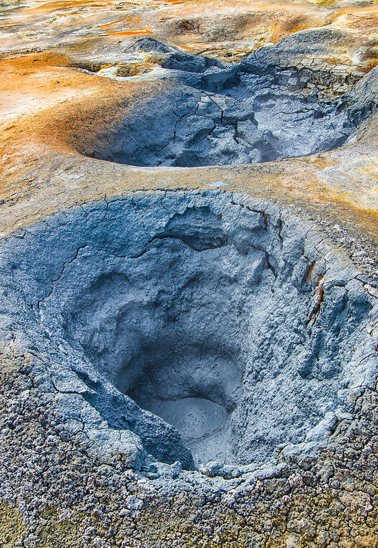 Mudpot Iceland Nature Abstract - Art Print