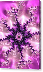 Pink And Purple Abstract Fractal - Canvas Print