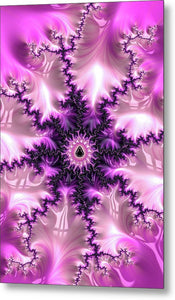 Pink And Purple Abstract Fractal - Metal Print