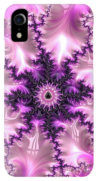 Pink And Purple Abstract Fractal - Phone Case