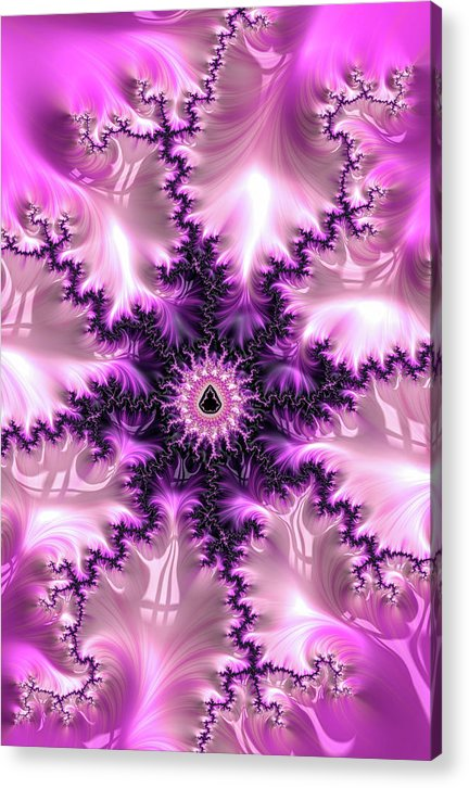 Pink And Purple Abstract Fractal - Acrylic Print