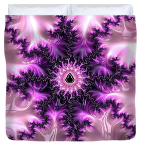 Pink And Purple Abstract Fractal - Duvet Cover