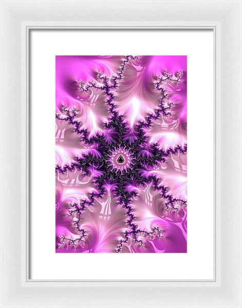 Pink And Purple Abstract Fractal - Framed Print
