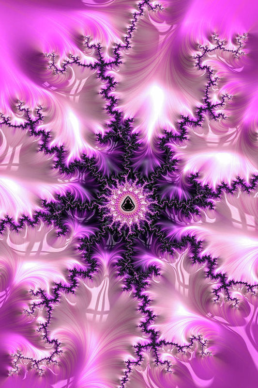 Pink And Purple Abstract Fractal - Art Print