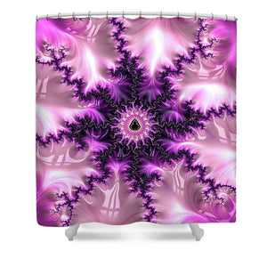 Pink And Purple Abstract Fractal - Shower Curtain