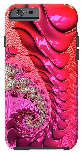 Pink And Red Trippy Fractal Spiral - Phone Case