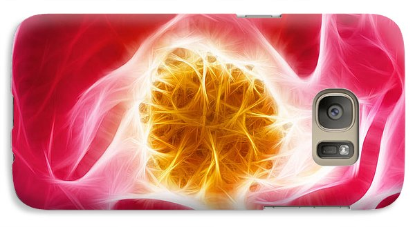 Pink Rose Fractal - Phone Case