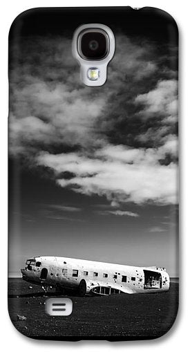 Plane Wreck Black And White Iceland - Phone Case