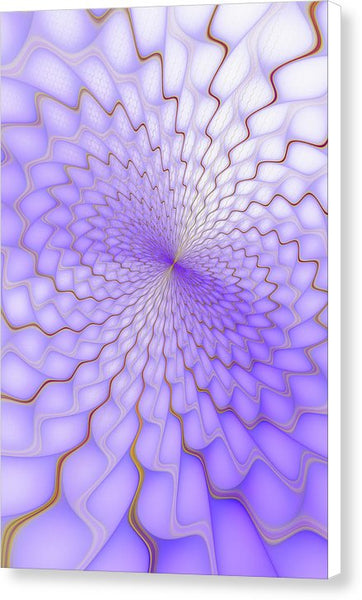 Purple And Golden Fractal Explosion - Canvas Print