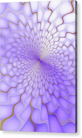Purple And Golden Fractal Explosion - Acrylic Print
