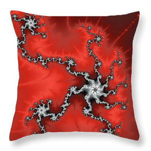 Red Energy - Abstract Fractal Artwork - Throw Pillow