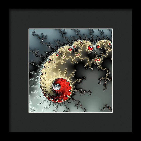 Red Yellow Grey And Black - Amazing Mandelbrot Fractal - Framed Print