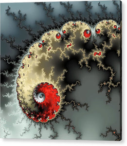 Red Yellow Grey And Black - Amazing Mandelbrot Fractal - Acrylic Print