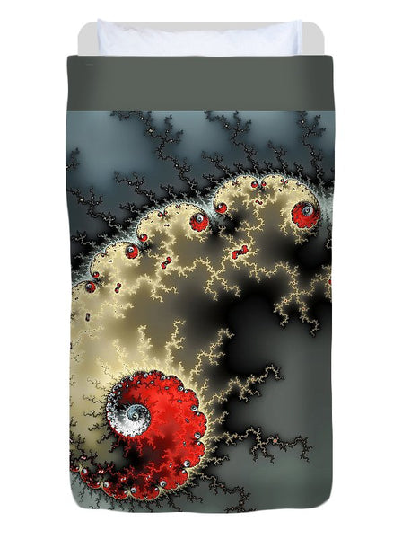 Red Yellow Grey And Black - Amazing Mandelbrot Fractal - Duvet Cover