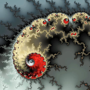 Red Yellow Grey And Black - Amazing Mandelbrot Fractal - Art Print