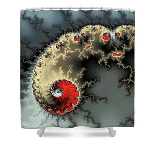 Red Yellow Grey And Black - Amazing Mandelbrot Fractal - Shower Curtain