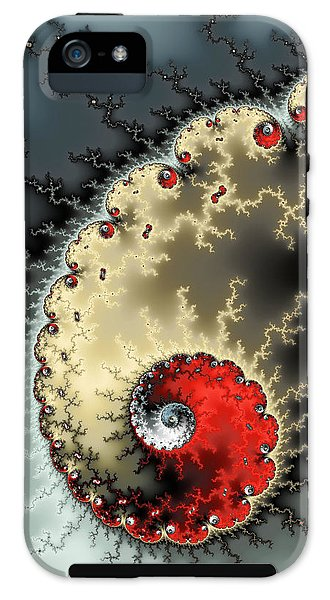 Red Yellow Grey And Black - Amazing Mandelbrot Fractal - Phone Case