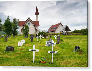 Reykholt Iceland Church And Graveyard - Acrylic Print