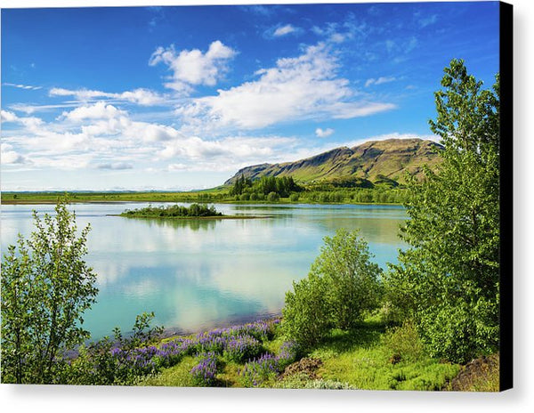River Hvita In South Iceland - Canvas Print